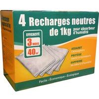 4 recharges de 1kg pour Absorbeur d'Humidité